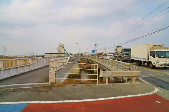 福岡県みやま市 高田町側 町境 飯江川橋