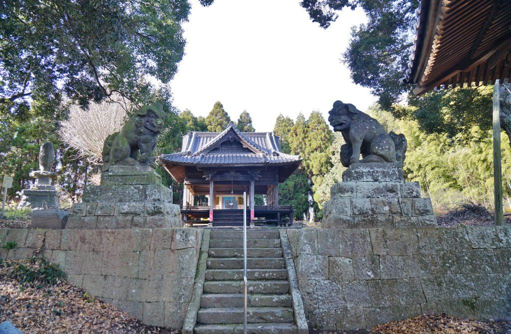 福岡県大牟田市宮部66-1 早馬神社 九州最大のこま犬 ちくごさるき