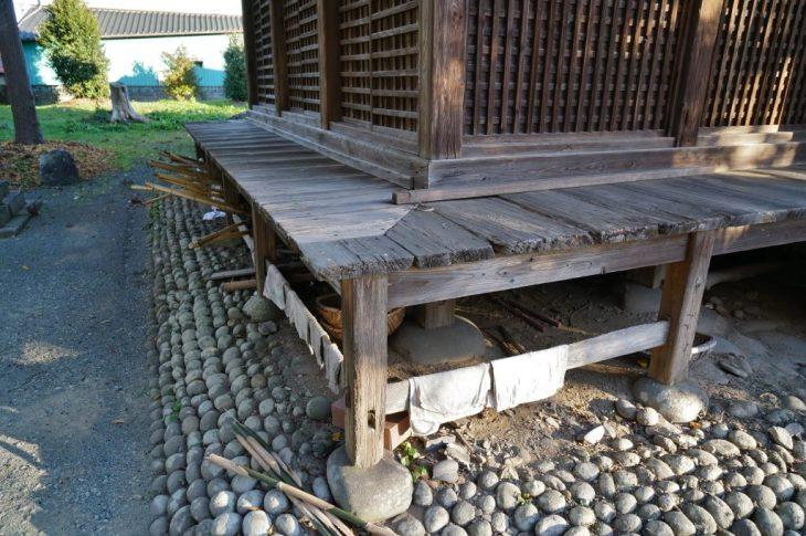 福岡県八女市忠見261-1 正八幡宮 基礎部分 老朽化
