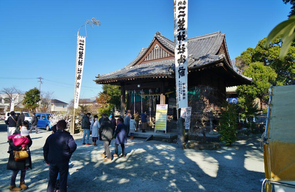 福岡県大牟田市鳥塚町88 三笠神社 拝殿 初詣