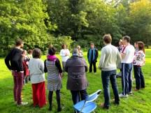 Chi Kung in het park met Cosima