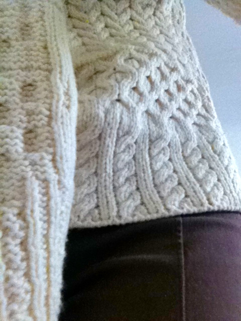 Seriously look at these hand knit details.