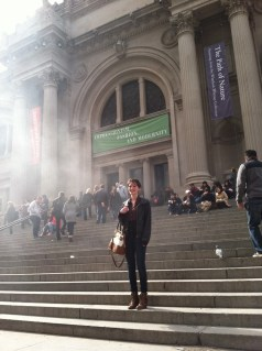 Outside the Met.