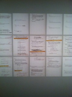 Various drafts of shooting scripts.
