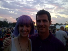 Me and my pa during Bret Michaels at Frontier Days