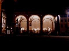 piazza della signoria at ngiht