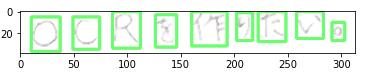 結果:横書きの文字領域の輪郭検出・抽出結果⑤ - 元の画像から削除【日本語 - 手書き編】ノイズ除去の機能を実装