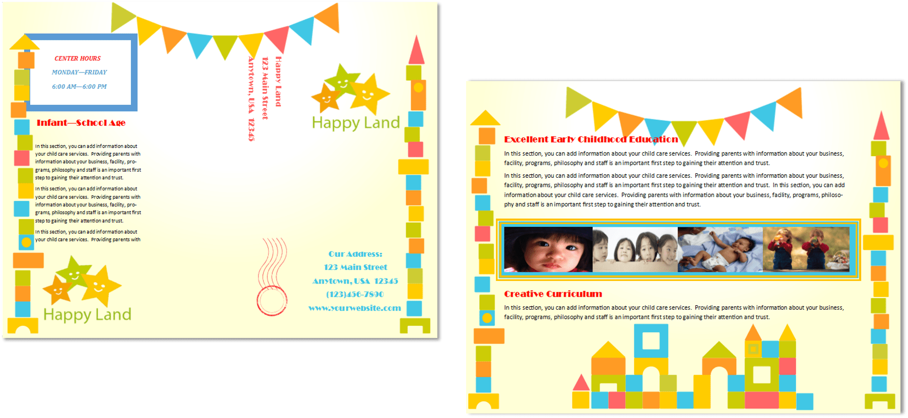child care brochure template free - daycare brochure child care brochure template free fresh