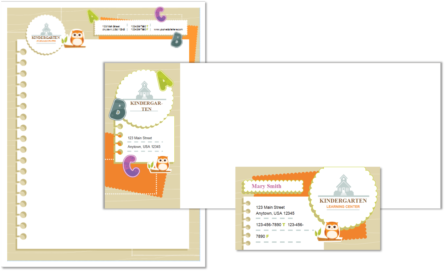 Child Care Stationery Set Template 5 - Child Care Owner
