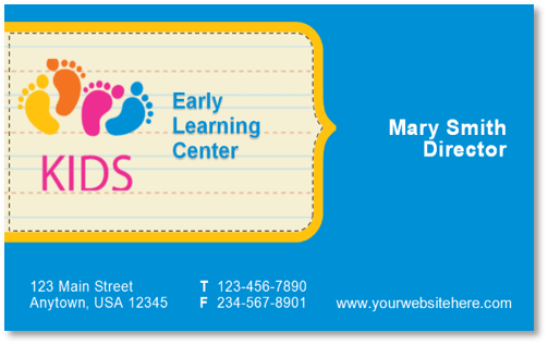 Daycare business cards acurnamedia daycare business cards colourmoves