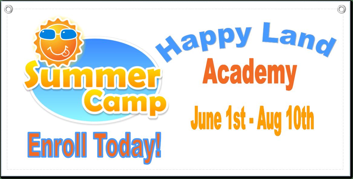 Summer Camp Banner Template 1