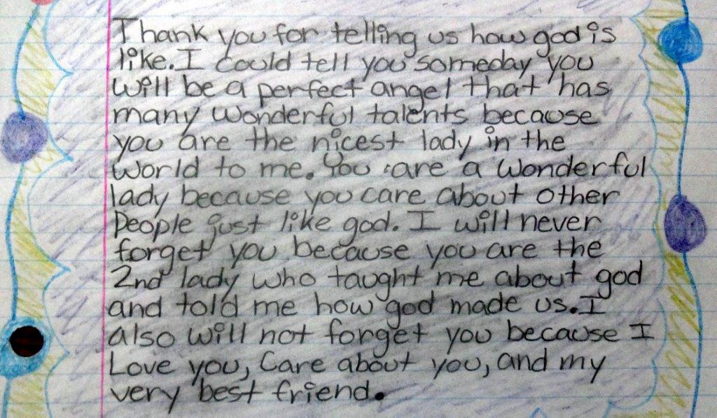 letter from child shows human spirit