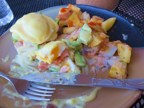 Chelan fourth of July weekend eggs benedict