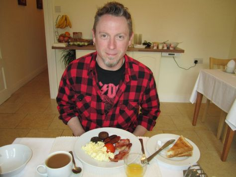 Irish breakfast at Avondale B&B, Cork Ireland