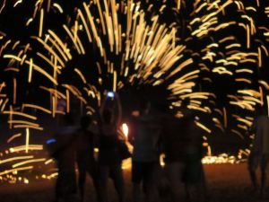 Woody's fire show Phi Phi Thailand 446