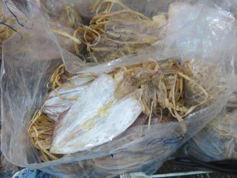 dried squid at the market Thailand 605