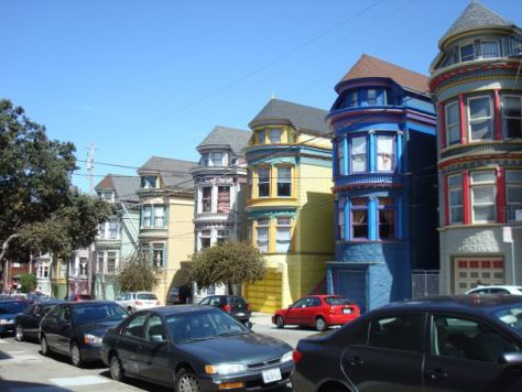 colorful houses Haight-Ashbury San Francisco
