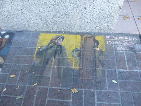 Sidewalk chalk art on Government Street Victoria BC