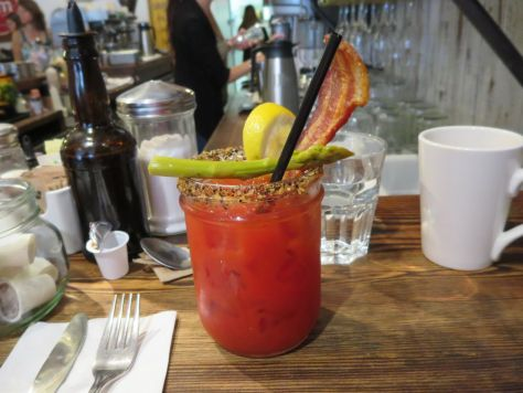 Bacon bloody mary The Jam Cafe Victoria BC