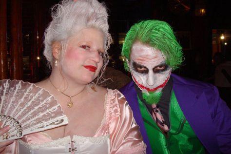 Homemade Halloween costume Marie Antoinette and The Joker