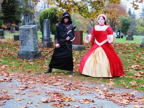 Halloween Costume Post-Mortem Anne Boleyn and her executioner