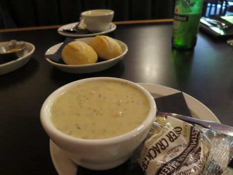 Salmon corn chowder at Kokopelli Grill Port Angeles