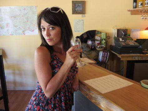 Wine tasting at Lopez Island Vineyards