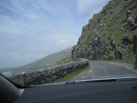 Windy scary two-way roads on the Dingle Peninsula