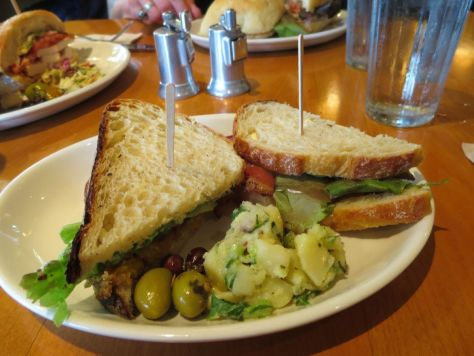 Fried green tomato BLT at Rose's Bakery Cafe Orcas Island