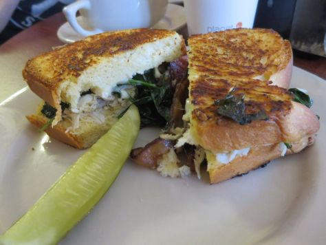 Crab, brie, and bacon sandwich at New Orleans Cake Cafe