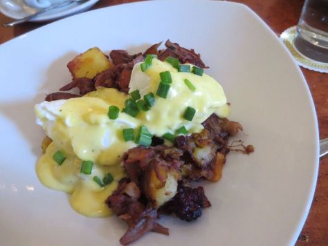 Duck confit hash at Atchafalaya in the Garden District