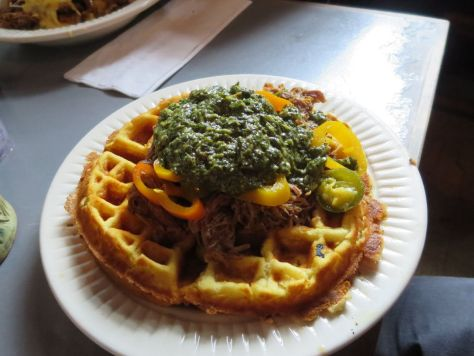 Waffle Couchon at Horns New Orleans