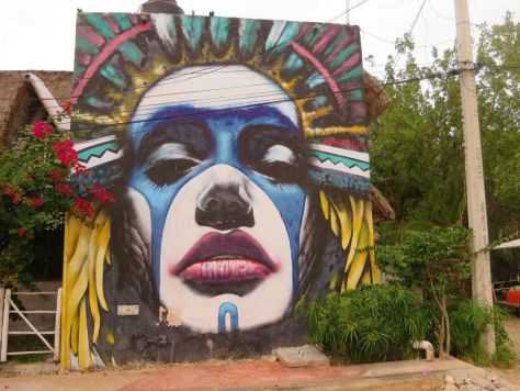 Isla Holbox graffiti art Mexico