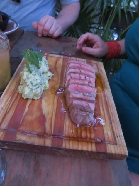 Seared ahi tuna steak, Kitchen Table Tulum