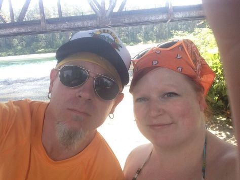 Paddy and I getting ready to go tubing on the Skykomish River in Sultan, WA