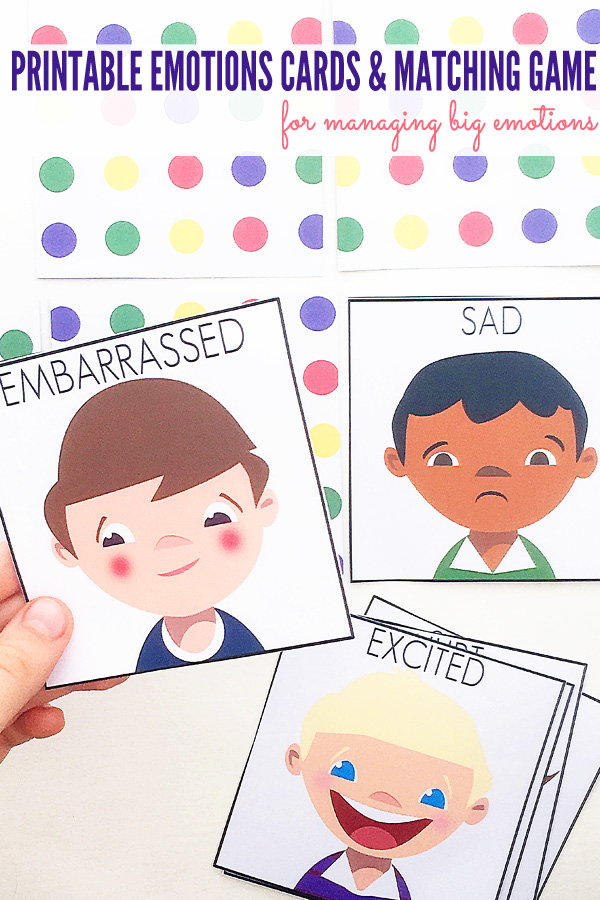 Printable Emotions Cards With Emotions Games Ideas