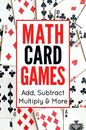 Math card games for kids
