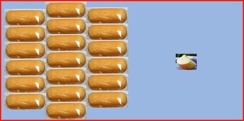 Twinkies and apple slice