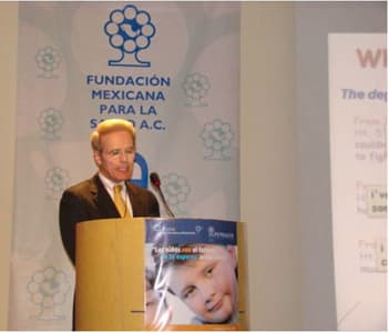 Child Obesity Specialist Dr. Pretlow at the 2009 Forum on Child Obesity Interventions in Mexico City