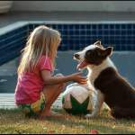 girl-dog-ball