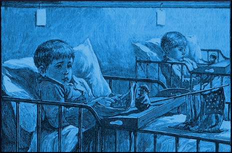 illustration-boys-reading-in-bed