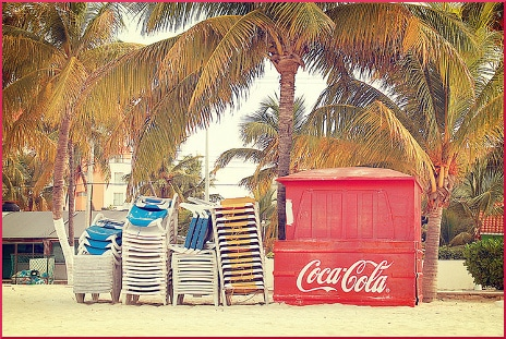 coca-cola-containers-beach-mexico