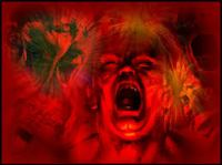 anger red face