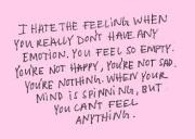 Constantly Feeling 'Empty'? Effects And Solutions.