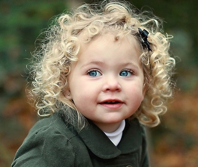 Toddler Girl With Medium Curly Hair