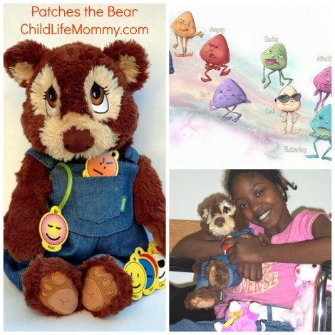 patches the bear collage