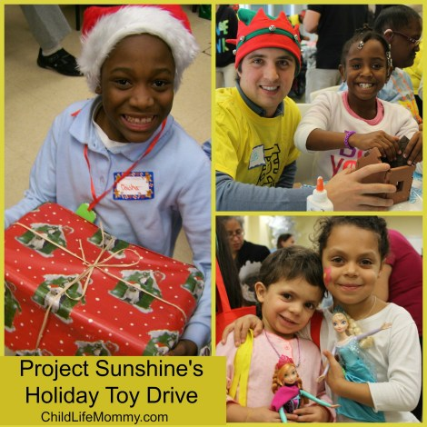 Project Sunshine holiday Toy Drive Collage