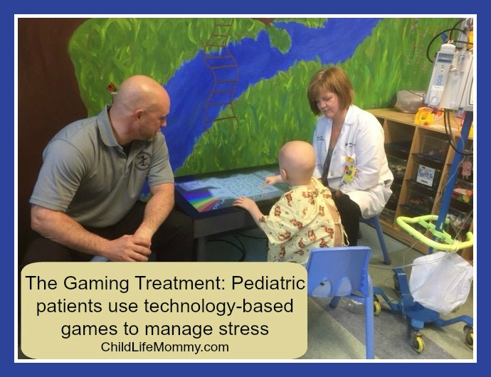 The Gaming Treatment Pediatric patients use technology-based games to manage stress