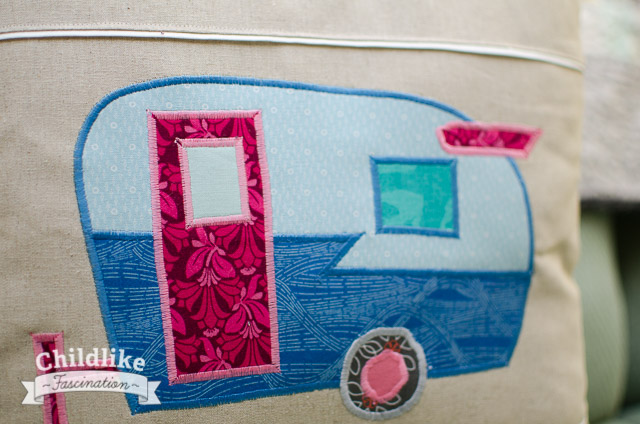 Applique Camper Pillow