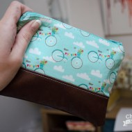 Bicycle Leather Bottom Clutch